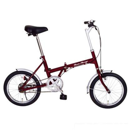 【送料無料】Classic Mimugo 折りたたみ自転車 16インチ クラシックレッド (組立時)130×53×94cm MG-CM16 FDB16  便利グッズ(レジャー用品)レジャー用品