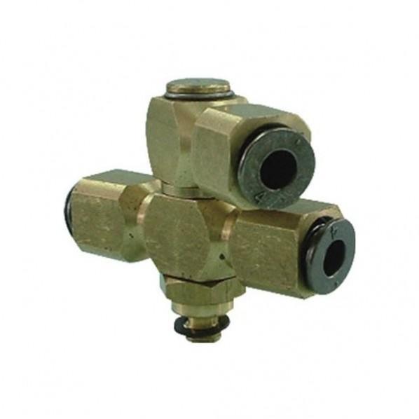 チヨダ フジダブルバンジョー(金属)4mm・M5X0.8 4-M5S1D1