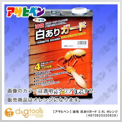 油性白ありガード オレンジ 3.4L
