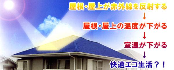 屋根・屋上が赤外線を反射する
