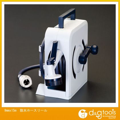 エスコ 散水ホースリール  9mm×15m EA124KA-15   リール付きホース 散水・潅水用ホース