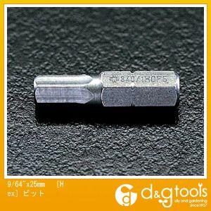 エスコ [HEX]ビット  9/64×25mm EA611DC-106