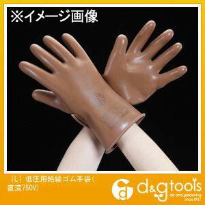 エスコ 低圧用絶縁ゴム手袋(直流750V)  L EA640ZD-2