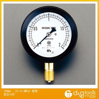 100mm[0〜0.6MPa]密閉型圧力計 (EA729DR-6)