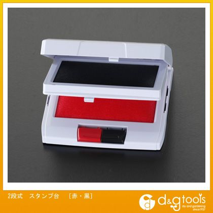 2段式スタンプ台 赤・黒  EA762AE-1