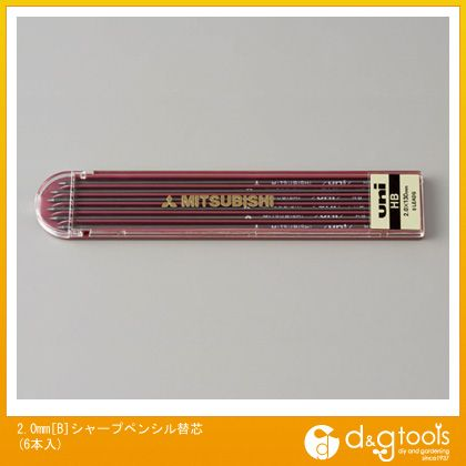 エスコ 2.0mm[B]シャープペンシル替芯(6本入)   EA765MF-104