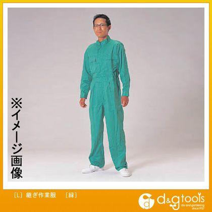 エスコ [L]継ぎ作業服[緑]   EA996AC-42