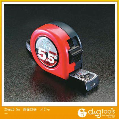 エスコ 25mmx5.5m両面目盛メジャー   EA720CE-5