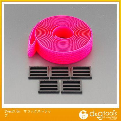 エスコ 25mmx3.0mマジックストラップ   EA944MA-5