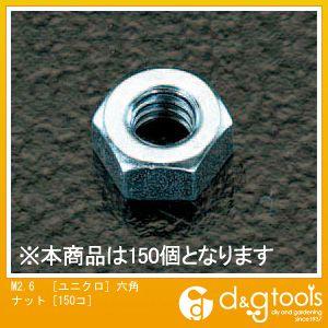 M2.6[ユニクロ]六角ナット[150コ]   EA949GG-2.6