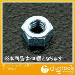 M3[ユニクロ]六角ナット[200コ]   EA949GG-3