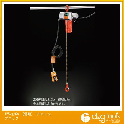 125kg/6m[電動]チェーンブロック   EA987DC-6