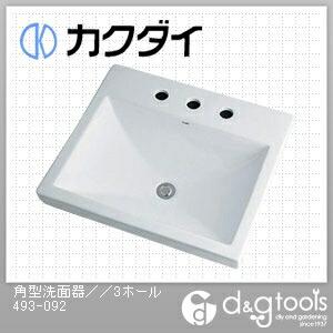 角型洗面器 3ホール   493-092