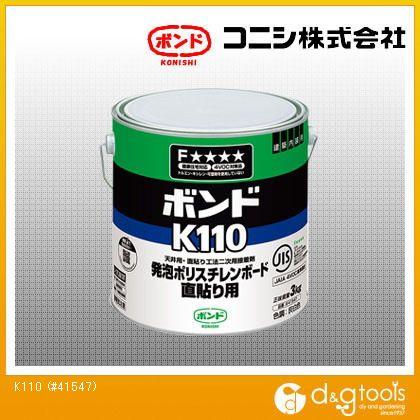 ボンド 発泡プラスチック保温板用接着剤 K110  3kg #41547