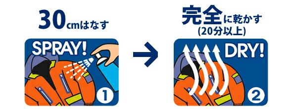 コニシ 防水スプレー/使用方法