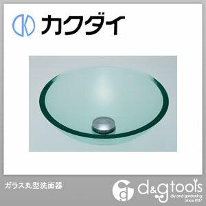 カクダイ ガラス丸型洗面器 (493-025-C) 洗面器 洗面