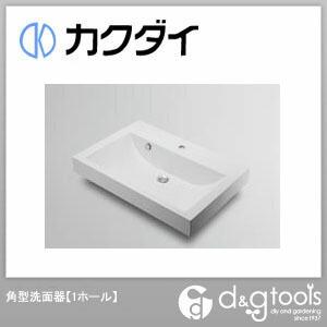 カクダイ 角型洗面器(1ホール) (493-070-750) 洗面器 洗面