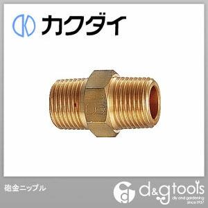 カクダイ 砲金ニップル   6128-25×20