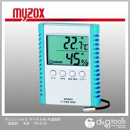 マイゾックス デジコンフォII (デジタル内/外温度計・ 湿度計) 本体   TD-8172