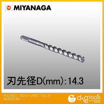 デルタゴンビット SDS-プラス (DLSDS143)
