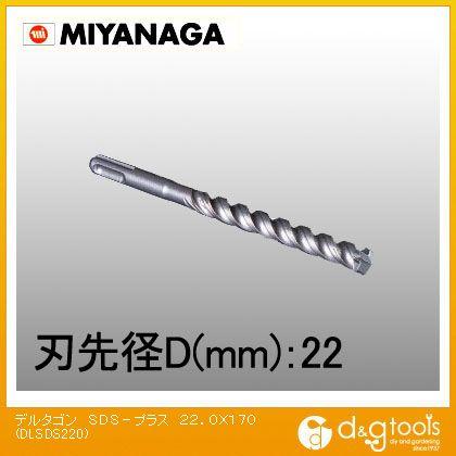デルタゴンビットSDSプラスΦ22.0X170mm  22.0×170 DLSDS220