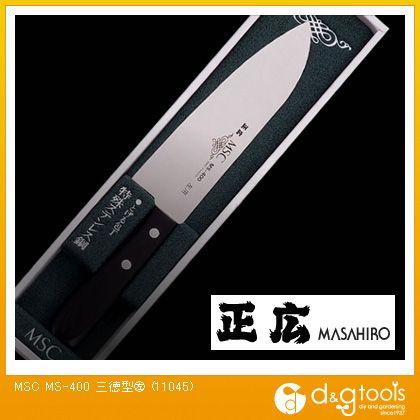 包丁 MS-400 三徳型(左) ステンレス包丁 (11045)