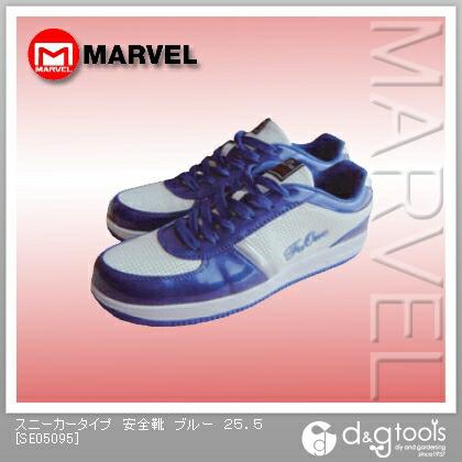 スニーカータイプ 安全靴 ブルー 25.5 (SE05095)