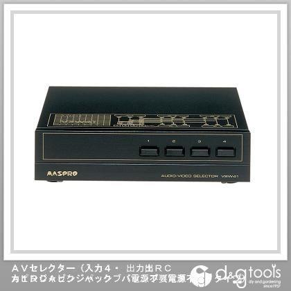 マスプロ電工 AVセレクター(入力4・     出力1RCAピンジャック パッシブ(電源不要)タイプ)   VSW41