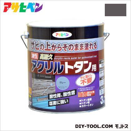 油性高耐久アクリルトタン用塗料 グレー 3kg