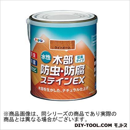 アサヒペン 水性木部防虫・防腐ステインEX(水性木部用塗料) ライトオーク 1.6L