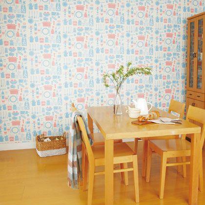 透けてデコるシート(専用粉のり付き) キッチン 46cm×5m DR-10  本