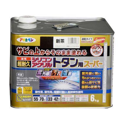 油性超耐久シリコンアクリルトタン用 新茶 6kg