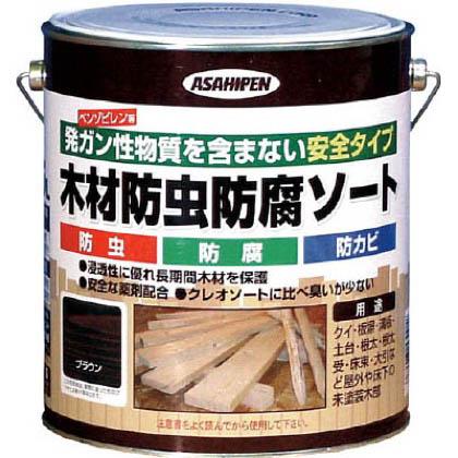 木材防虫防腐ソート ブラウン 2.5L