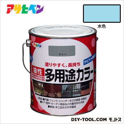 油性多用途カラー 水色 1.6L
