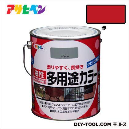 油性多用途カラー 赤 1.6L