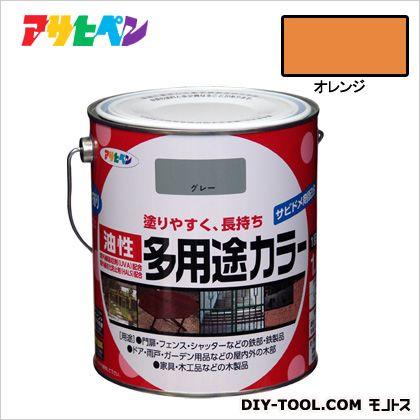 油性多用途カラー オレンジ 1.6L