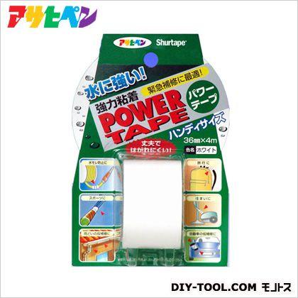 パワーテープ強力粘着多用途補修テープ ホワイト 36mm×4m T042