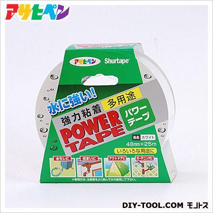 パワーテープ 強力粘着 多用途補修テープ ホワイト 48mm×25m (T252)