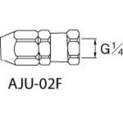 アネスト岩田 ホースジョイント G1/4袋ナット   AJU02F