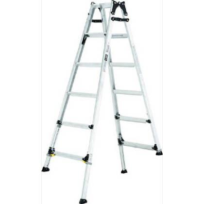伸縮脚付はしご兼用脚立 ワイドステップ60mm 楽伸 (PRW-180F)