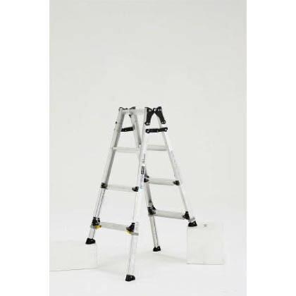 伸縮脚付はしご兼用脚立ワイドステップ60mm楽伸   PRW120FX