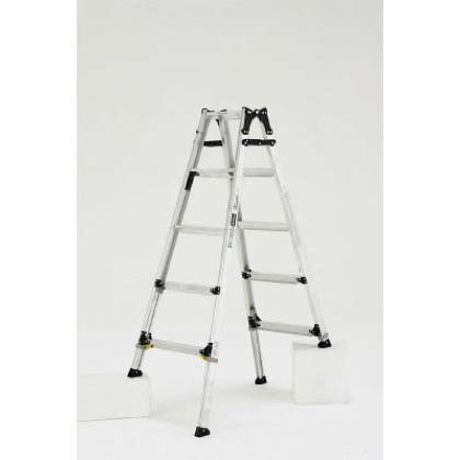 伸縮脚付はしご兼用脚立 ワイドステップ60mm 楽伸   PRW-150F