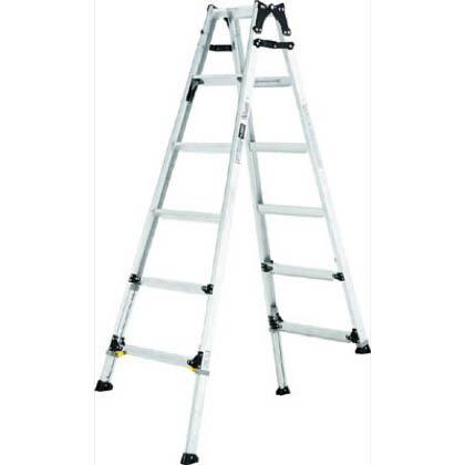 伸縮脚付はしご兼用脚立 ワイドステップ60mm 楽伸 (PRW-210F)