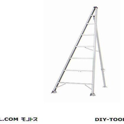 松葉型三脚脚立 シルバー 全長2.54m、高さ2.44m KTW-240F