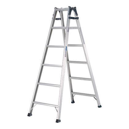 幅広踏ざん(55mm)はしご兼用脚立PRS-W  天板高さ:1.70m PRS180WA