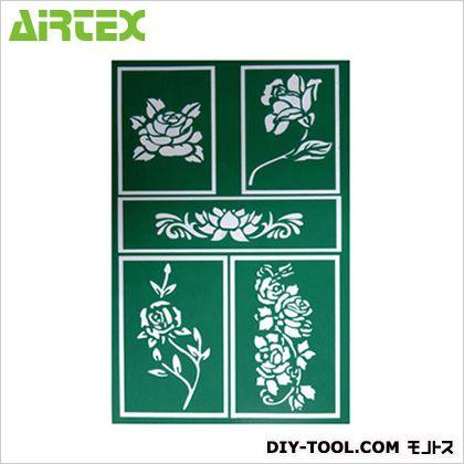 クイックステンシルシール 薔薇  W210×H300(mm) QS002