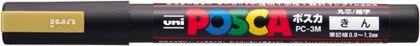 三菱鉛筆 ポスカ PC-3M 25 金  PC3M.25  本