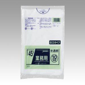 ジャパックス メタロセン配合ポリ袋エコ45L半透10枚   TM49  P.