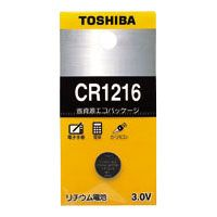 東芝 リチウムボタン電池   CR1216EC