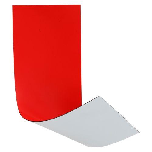 マグタッチシート両面カラーカット 赤/白  MN-3010W